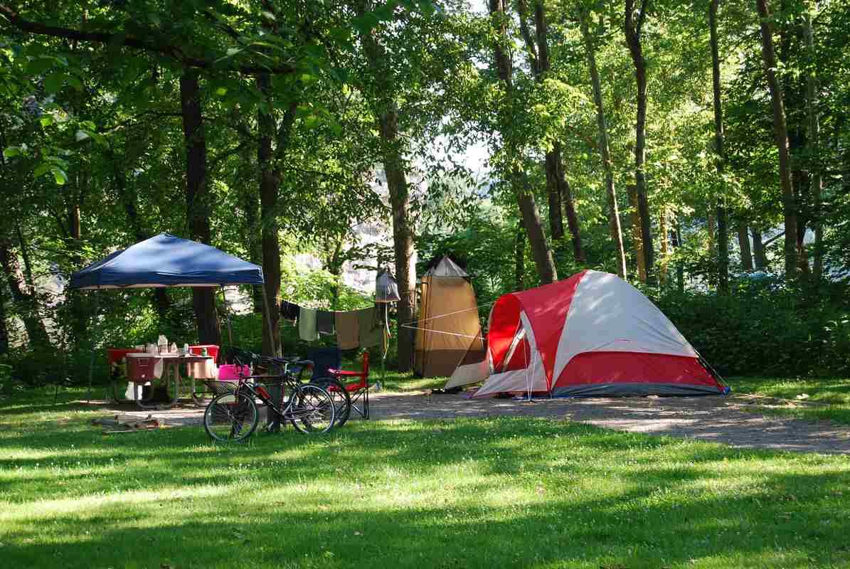 Un camping pour les vacances